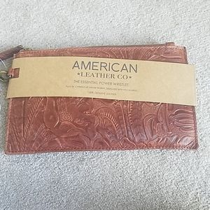 American leather Co wristlet